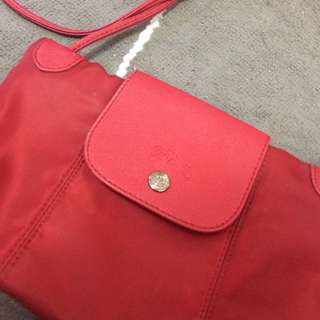 EVERYTHING MUST GO!!! Faux Red Longchamp Body Bag