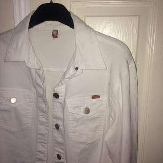 EVERYTHING MUST GO!!! White Jean Jacket