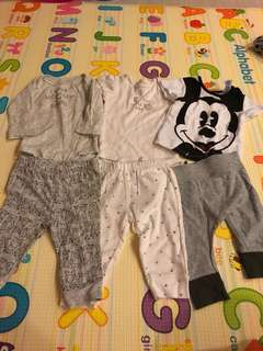0-3m baby boy rompers TOP and bottoms