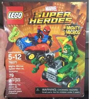 Lego Marvel Mighty Micros Spiderman vs Scorpion