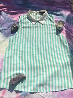 Forever 21 striped dress shirt