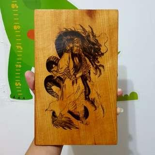 🚚 騎龍關公 檜木板 擺飾 掛飾