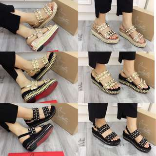 C. Louboutin Wedges 118-55A