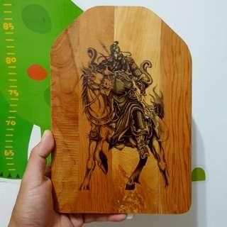 🚚 騎馬關公 檜木 掛飾 擺飾
