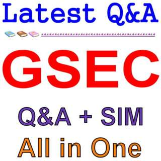 GIAC Security Essentials GSEC Exam Q&A PDF+SIM