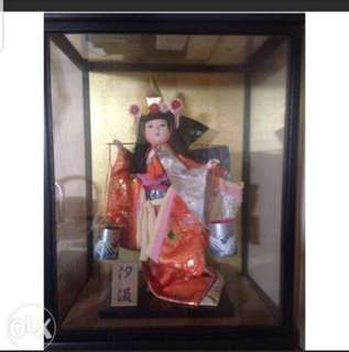 Japanese Doll with Glass case
