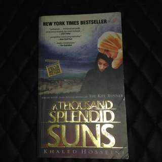 KHALED HOSSEINI (A THOUSAND SPLENDID SUNS) - NOVEL BEKAS SECOND PRELOVED