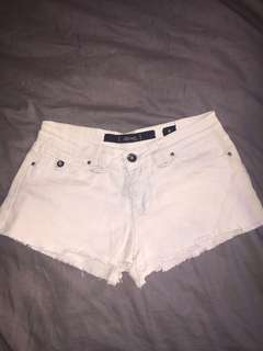 Lee mini shorts size 8