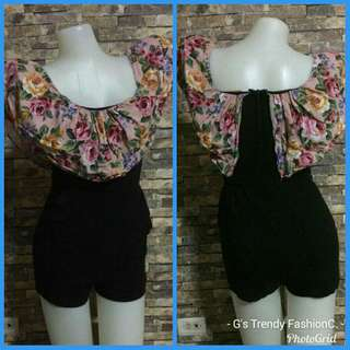 Ang Gara Floral stretchy rompers