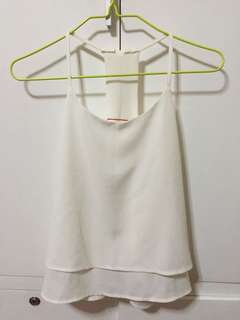 GTW white sleeveless top