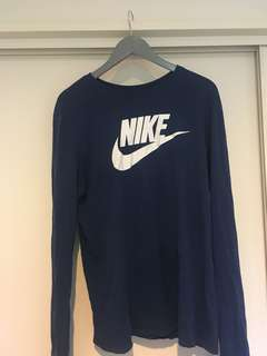 Blue Nike long sleve