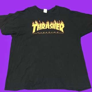 🚚 🚧Thrasher黑色寬鬆T恤🏁