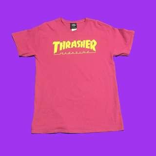 🚚 🚧THRASHER🏳️🌈粉色T恤🏁