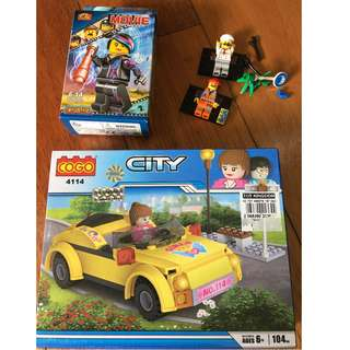 lego like car with freebies
