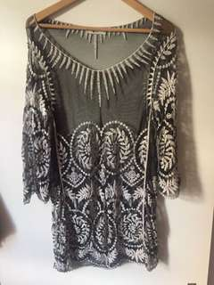 Sheer loose top/dress  size 6-10