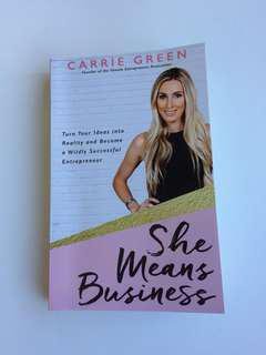 She means business Carrie green