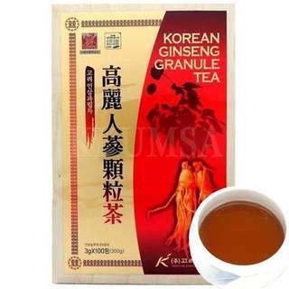 Korean One Red Granule Ginseng Tea from South Korea (3g x 100 sachets)