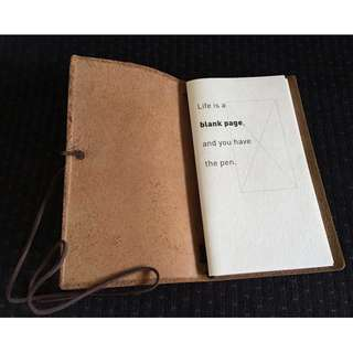 Italian Leather Refillable Notebook Journal Open Quote Hong Kong