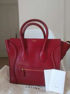 Celine luggage bag in smooth calfskin