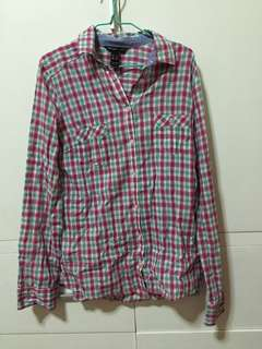 Mango checkered long sleeves