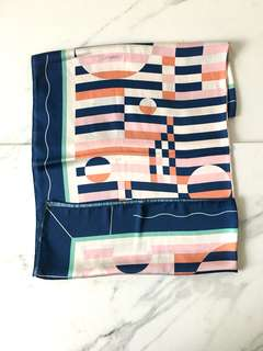 Pattern Silk Scarf