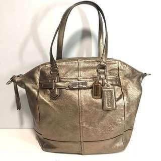 Coach bag gold color