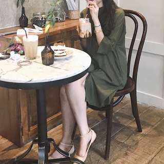 sale! this is april anya green army dress