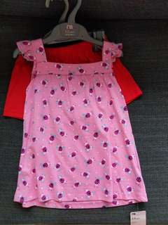 Brand new Mothercare Top & Shorts set size 2-3 years