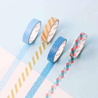 (PO) Set: Color Pop Washi Tapes
