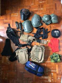 War game裝備及睡袋,多谷