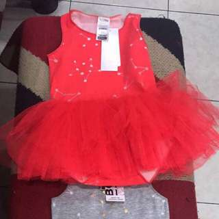 Red Bonds Tutu Dress