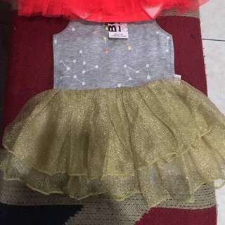 Gold Bonds Tutu Dress
