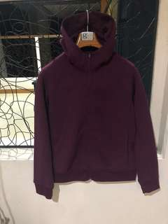 Uniqlo Jacket Burgundy Velvet Color