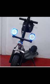 Wireless controlled 2400 Lumen Angel Light for Escooter electric scooter (Purple colour)