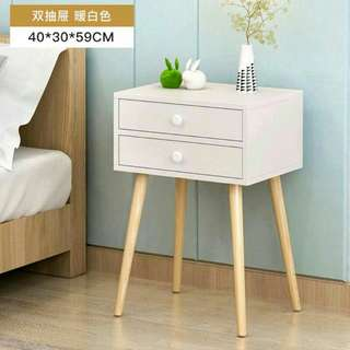 White Bedside Table With Leg (limited stock)