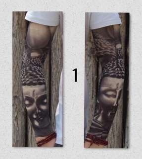 Brand New 3D Skin Tattoo Arms Sleeve