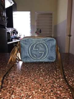 Gucci Soho small denim sling bag