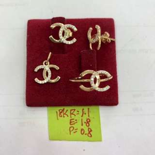 Gold Set (Earrings and Ring)