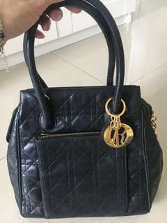 Dior Vintage Lady Dior Leather Handbag
