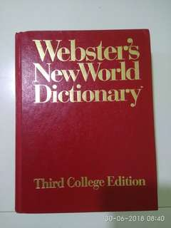Webster NewWorld dictionary