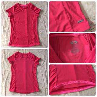 athletic works pink blouse auth