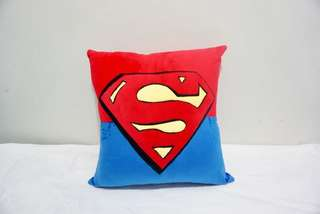 🚚 Superman velvet cotton cushion cover / pillow case, cute, soft, stuffed Marvel character cushion, puffy, comfy bedding gift, gift for him