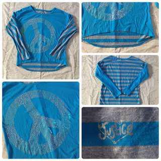 blue stripes long sleeved