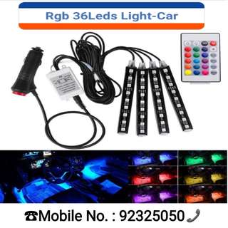 9 / 12 / 18Leds Car Interior Lights, USB Car LED Strip Lights Atmosphere Neon RGB Lights With Music And Wireless Remote Control