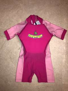 Watercolors Floatsuit Swimming Costume for Girls