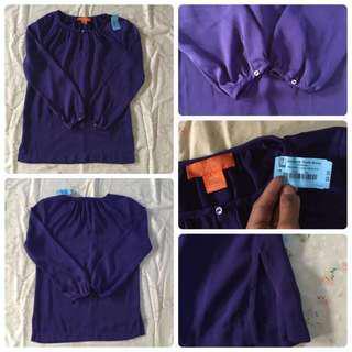 purple long sleeved for women