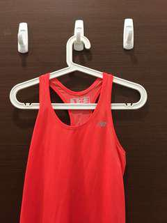 New Balance Neon Red Workout Tank/Tee/Top