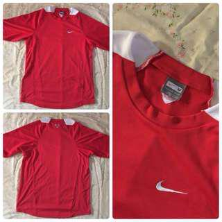 nike mens red shirt authentic