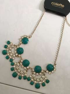 🚚 BN Colette Turquoise Green Statement Necklace