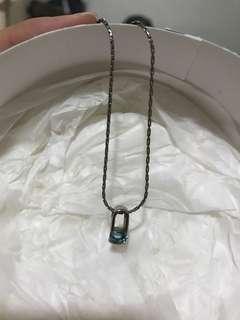 藍水鑽項鍊